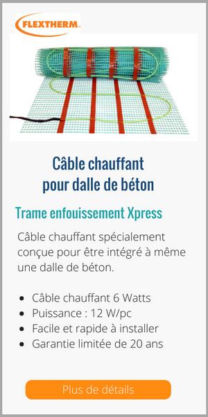 Câble chauffant pour dalle de béton_Flextherm