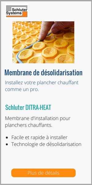 DITRA-HEAT_Schluter_Membrane de désolidarisation